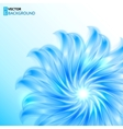Blue shining abstract flower background vector image