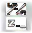 Business card design with letter Z vector image