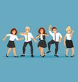 dancing business people vector image