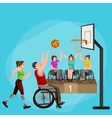 disabled athlete with prosthesis isolated concept vector image