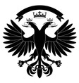 doubleheaded heraldic eagle with crown vector image