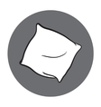 isolated round icon of pillow vector image
