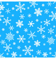 seamless ornament with snowflakes vector image