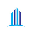 skyscrapers building contruction logo vector image