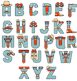 Typographic characters vector image
