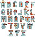 Typographic characters vector image