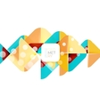 Colorful squares geometric elements vector image vector image