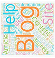 Increase Your Business With A Blog text background vector image