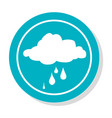 circular frame with silhouette rainy cloud icon vector image