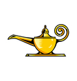 A magic lamp is placed vector image vector image