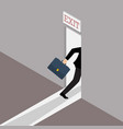 business solution or exit strategy vector image
