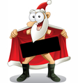 Crazy Santa - Cartoon vector image