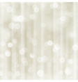 Silver beige holiday Christmas bokeh light vector image vector image