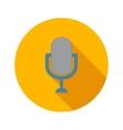 Retro microphone flat icon vector image