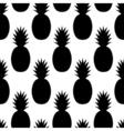 Black Pineapples Pattern vector image vector image