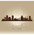 Baltimore Maryland skyline city silhouette vector image