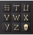 Bones Alphabets Set 3 vector image