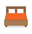 double bed with pillow and blanket vector image
