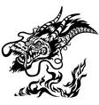 dragon head black and white vector image