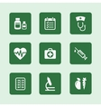 Health icons set vector image
