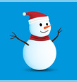 isolated snowman on blue background vector image