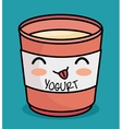 kawaii yogurt cute icon design vector image