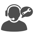 Operator Service Message Flat Icon vector image