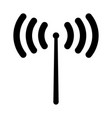 radio signal the black color icon vector image