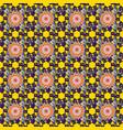 soft cotton design vintage flowery pattern vector image