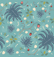 summer seamless pattern with exotic plants and vector image