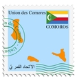 mail to-from Comoros vector image