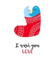 Christmas card with love pinguines vector image