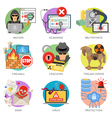 Internet Security Flat Icon Set vector image vector image