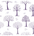 seamless pattern trees vector image
