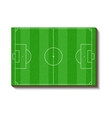 Football or soccer field icon cartoon style vector image