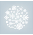 christmas ball of snowflakes on a background vector image