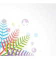 colorful fern leaves vector image