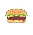 Hot Burger vector image