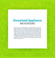 household appliance paper template vector image