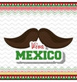moustache viva mexico symbol graphic vector image
