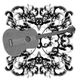 music design with guitar monochrome vector image