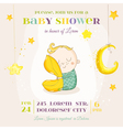 Baby Boy Sleeping with a Pillow - Baby Shower vector image vector image