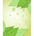 A stationery with big green leaves vector image