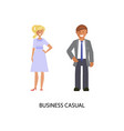 business dress code vector image vector image