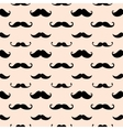 Hipster Mustache Seamless Pattern vector image