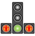 Traffic lights for pedestrians vector image