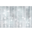 Silver bokeh holiday Christmas lights vector image