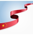 Chinese flag background vector image