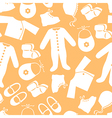 baby clothes pattern orange vector image vector image