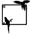 macaw silhouette vector image vector image